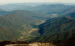 Ovens Valley and MUMC from Mt Feathertop