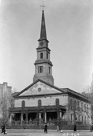St.-Mark's-in-the-Bouwerie exterior HABS NY,31-NEYO,3-1