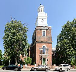 Freeport Village Hall, also known as the Municipal Building, was built in 1928 to replicate Independence Hall in Philadelphia, and was enlarged in 1973.