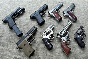 Handgun collection