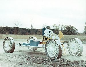 Lunar Roving Vehicle Mobility Test Article Dress Test