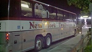 New York Trailways bus