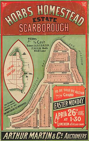 StateLibQld 2 262956 Estate map of Hobbs Homestead Estate, Scarborough, Queensland, 1886