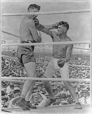 The knockout blow in the Dempsey-Willard battle LCCN2013646088
