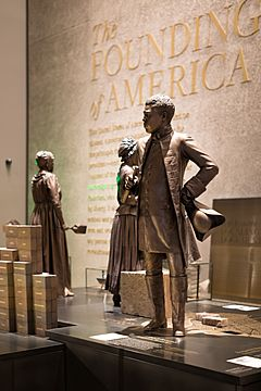 Benjamin Banneker statue at the National Museum of African American History and Culture