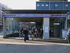 King's Cross St Pancras tube stn Euston Rd NE entrance.JPG