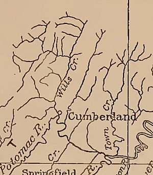 Map of Wills Creek Town Creek Watersheds in Pennsylvania Maryland