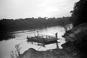 Marion Post Wolcott - Old cable ferry between Camden and Gees Bend, Alabama