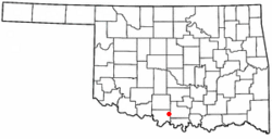Location of Ringling, Oklahoma