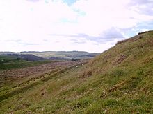 Part of the earthworks of Castle O'er iron age hill fort - geograph.org.uk - 23280