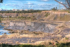 Former quarry at olympic park sydney