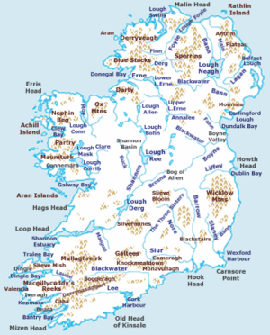 Kids Map Of Ireland.Geography Of Ireland Facts For Kids