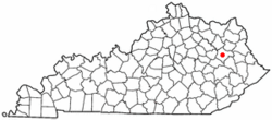 Location of West Liberty, Kentucky