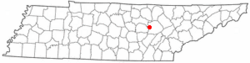 Location of Pleasant Hill, Tennessee