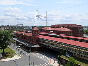 Wilmington Station from parking garage, July 2014