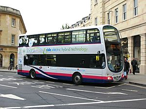 Bath First 39000 LJ07ECE hybrid bus