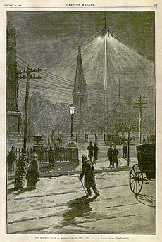 Brush Company arc light madison square new york 1882