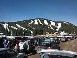Eldora Mountain Resort view from the parking