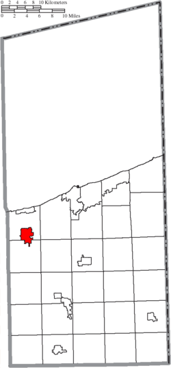 Location of Geneva in Ashtabula County