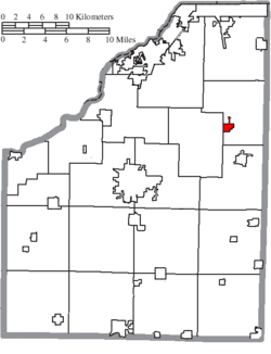 Location of Luckey in Wood County