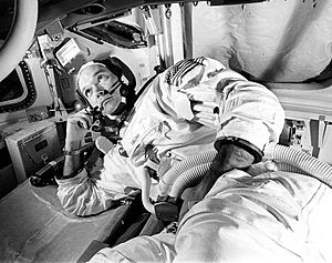 Michael collins training apollo 11