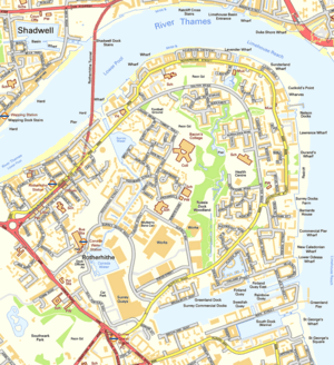Rotherhithe OS OpenData map