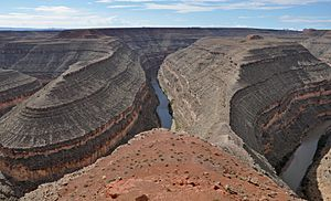 San juan river entrenched meanders