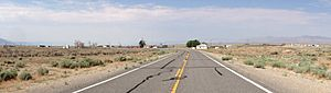 2014-07-17 09 55 40 Panorama of Currant, Nevada from U.S. Route 6 about 118 miles east of the Esmeralda County Line-cropped