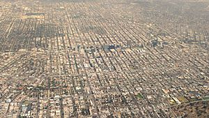 Los-Angeles-Koreatown-Aerial-view-from-south-August-2014