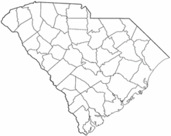 Location of Jamestown, South Carolina