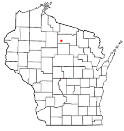 Location of Little Rice, Wisconsin