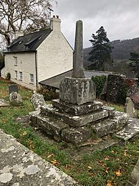 Church cross, St Martin's, Cwmyoy