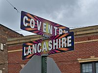 Coventry Lancashire sign