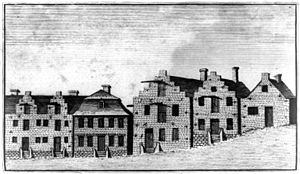 Dutch Rowhouses Albany 1789