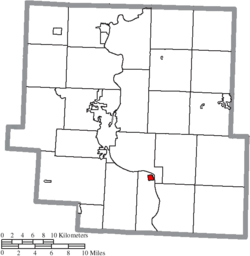 Location of Philo in Muskingum County