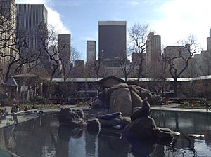 Sea lion pool in Central Park Zoo, New York City 2013