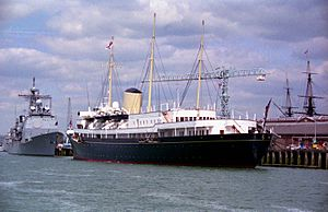 The Royal Yacht Britannia in Portsmouth - geograph.org.uk - 1702549
