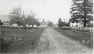 Yale Road Chilliwack - 1908 - Site of City Hall