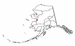 Location of Unalakleet, Alaska