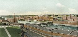 Amoskeag Manufacturing Co., Panorama Upriver