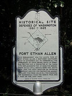 Fort Ethan Allen historical markers