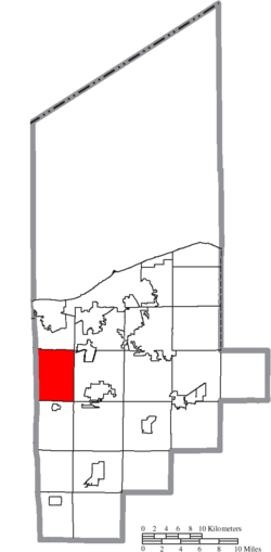 Location of Henrietta Township in Lorain County