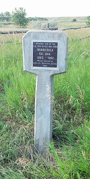 Minnesela Butte County Historical Society Monument