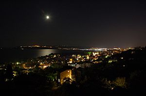 Night shot of Varna