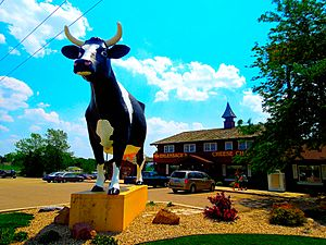 Sissy the Cow at Ehlenbach's Cheese Chalet - panoramio