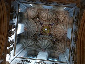 Canterbury Cathedral, fan vaulting of the crossing