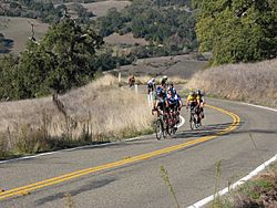 Cyclists Above Grant Ranch