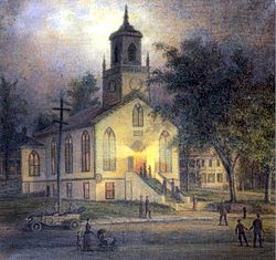 Lecture night at the Baptist Church, Port Jefferson