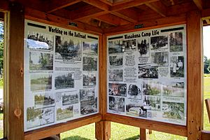 N Shore Kiosk Wanakena Walking Tour