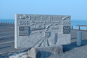Port-en-Bessin-Huppain, Calvados, Tablet of the D-day